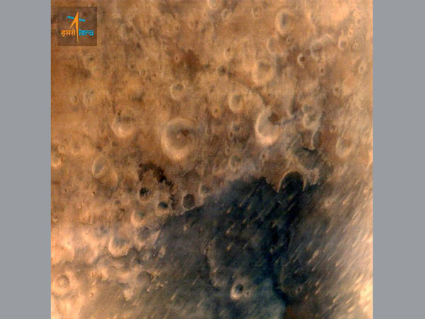 One of the first set of pictures of Mars