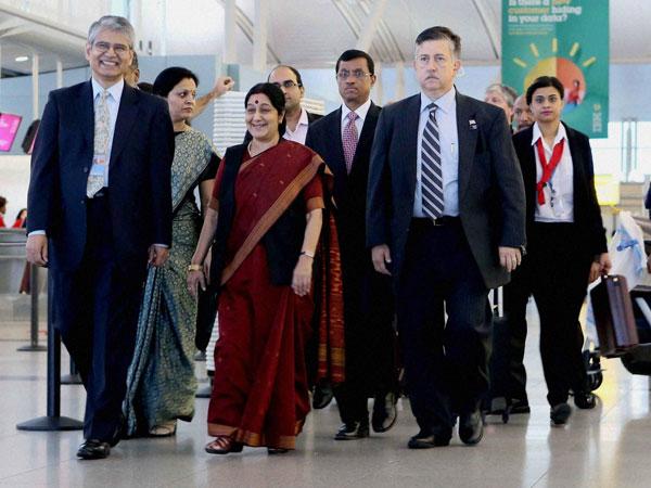 Sushma Swaraj begins US visit