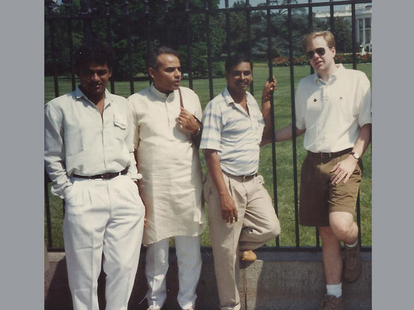 Narendra Modi seen in front of the White House