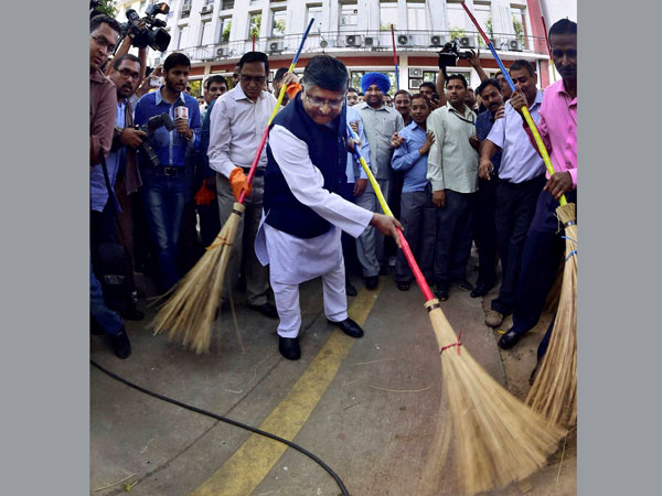 'Swachh Bharat Abhiyan' (Clean India Mission), in New Delhi