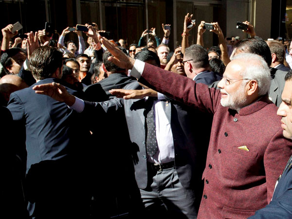 Modi touched by warm welcome in NY