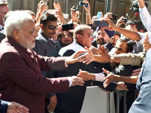Indian-American crowd gathers outside UN to 'welcome' Modi