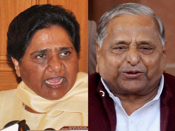 Mayawati and Mulayam
