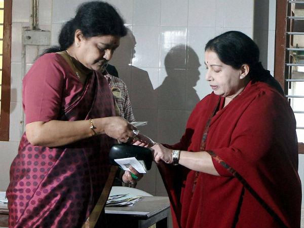Jayalalithaa's aide Sasikala follows her
