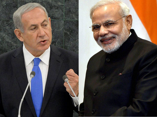 Modi meets Israeli counterpart