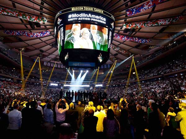 Modi overwhelmed at Madison Square