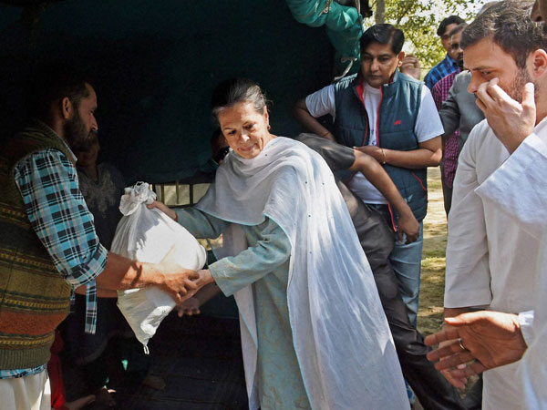 Gandhis assure full support