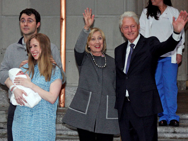 Latest addition to the Clintons' family