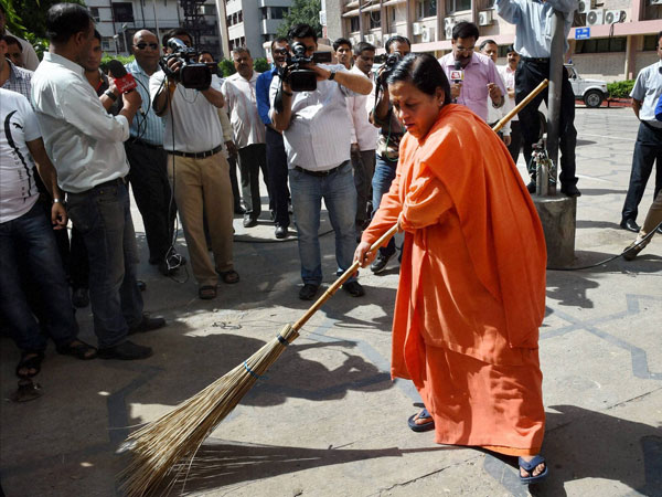 Union Water Resources Minister Uma Bharti sweeps