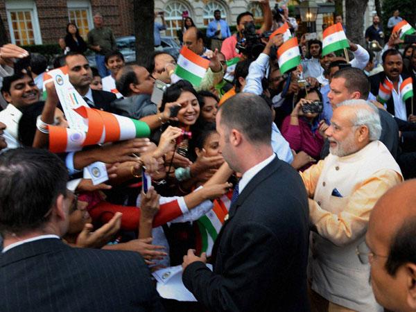 Modi given rockstar welcome