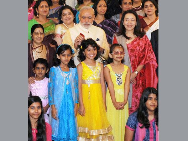 Modi meets children