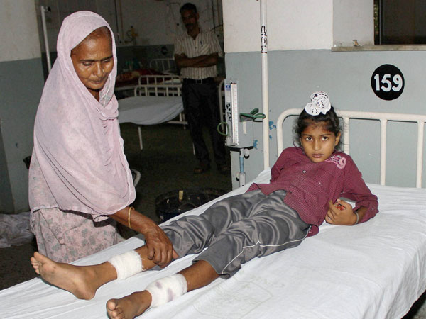 An injured is treated at the Government Medical College