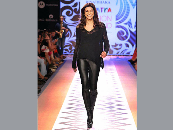 Bollywood actress Sushmita Sen walks the ramp