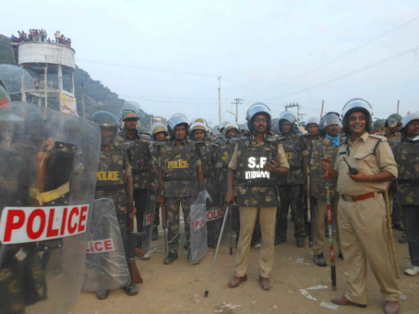Nearly 400 police personnel were deployed
