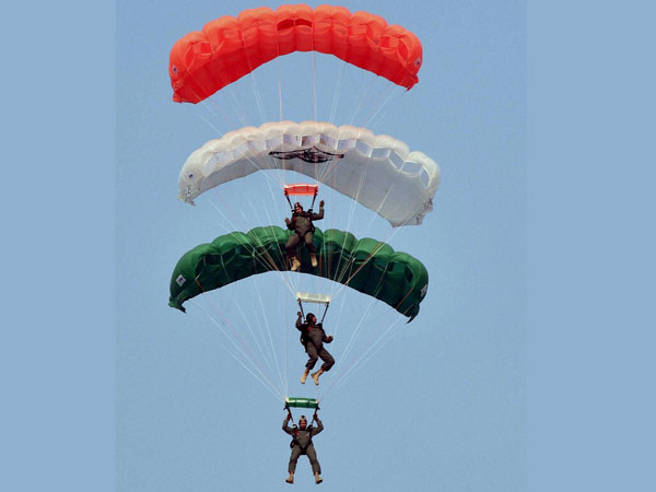 IAF paratroopers perform during the full dress rehearsal