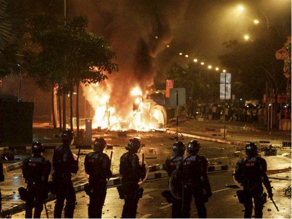 Riots in India.