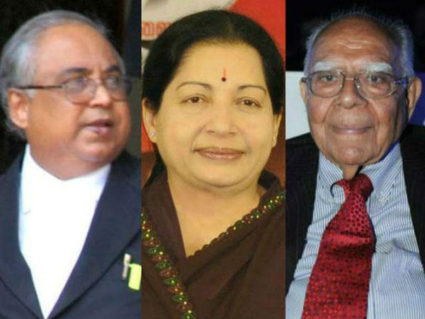 Jayalalithaa and Ram Jethmalani