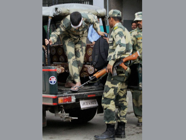 A BSF jawan injured during shelling from Pakistani side