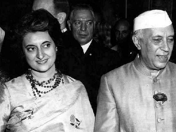Indira Gandhi and Nehru