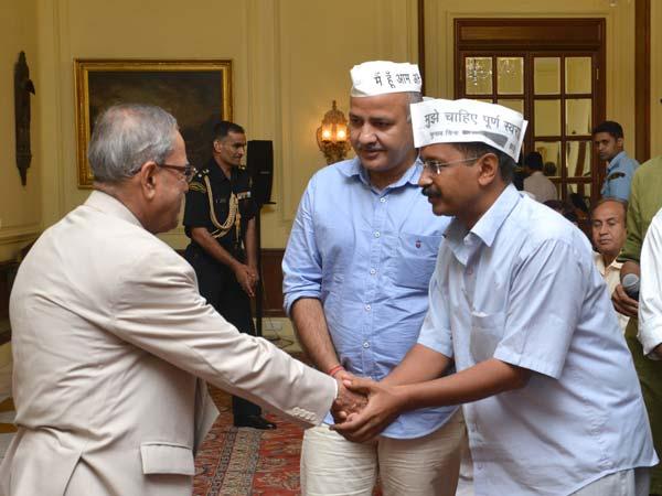Kejriwal and Pranab Mukherjee