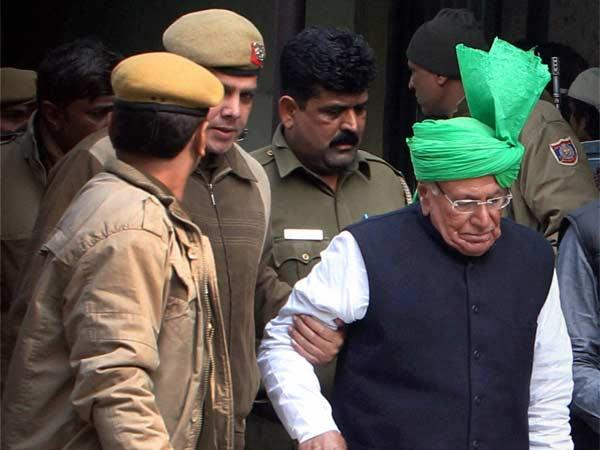 Indian National Lok Dal (INLD) chief and former Haryana chief minister Om Prakash Chautala.