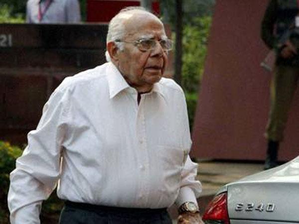 Senior lawyer Ram Jethmalani