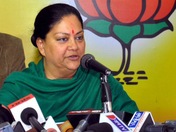 Vasundhara Raje's veiled attack on Modi