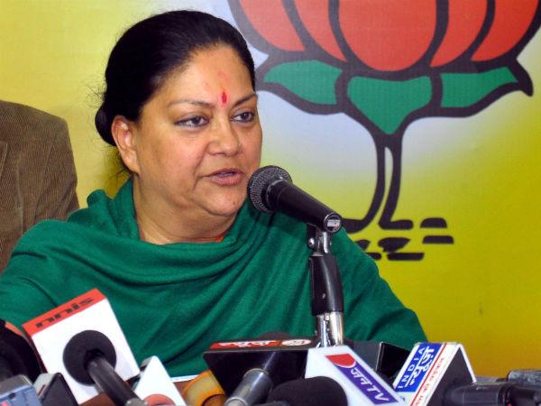 Vasundhara Raje's veiled attack on Modi