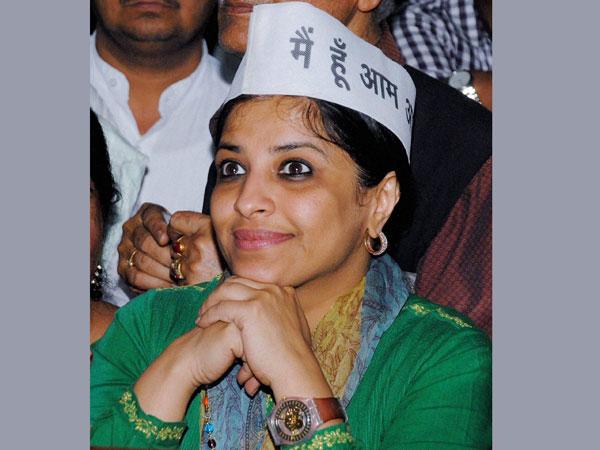 Shazia Ilmi seen at BJP event