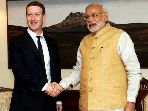 Modi meets Facebook CEO Mark Zuckerberg