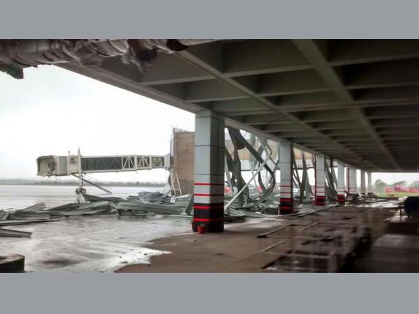 Cyclone damages Visakhapatnam Airport