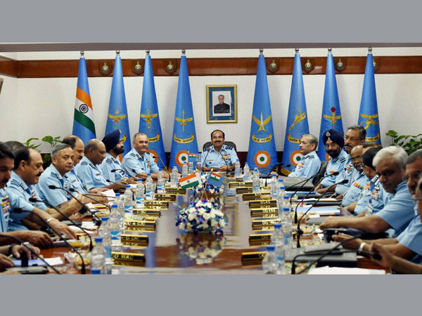Chief of the Air Staff Arup Raha at the Air Force Commanders