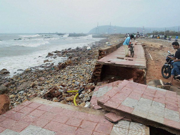 Damages aftermath of the Hudhud Cyclone