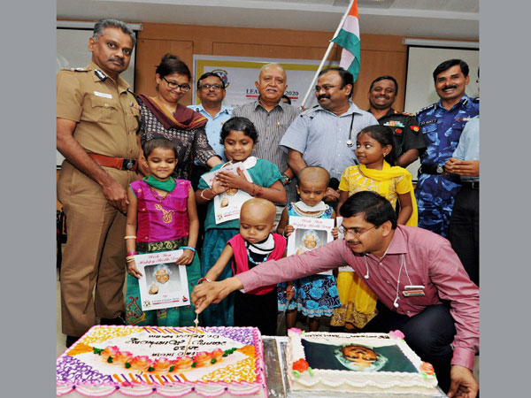 Children Celebrating former President APJ Abdul Kalam's birth anniversary
