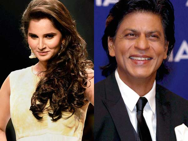 Sania Mirza and Shahrukh Khan