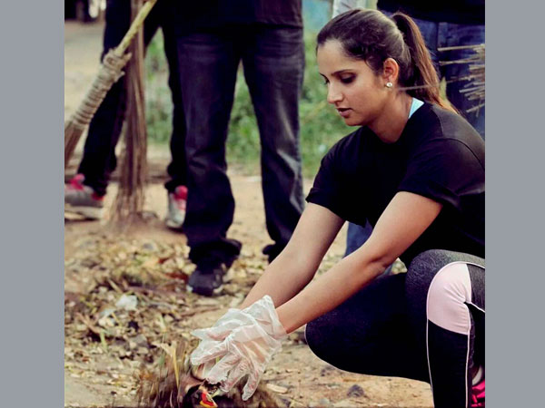 Sania joins 'Swachh Bharat' cmpaign
