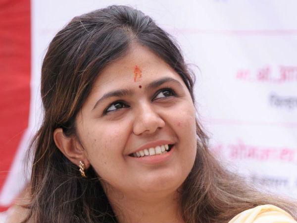 Gopinath Munde's daughter Pankaja Munde.