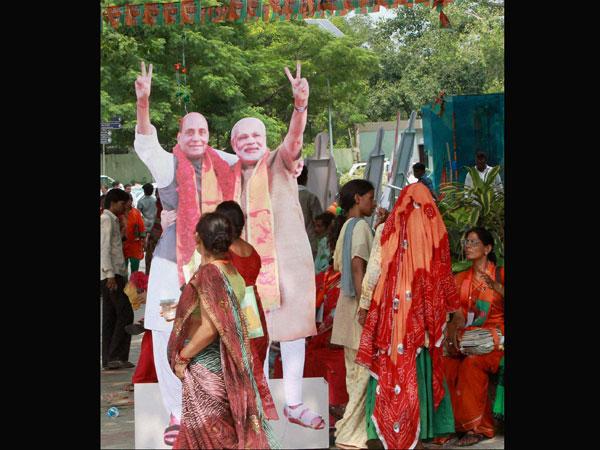 Modi and Rajnath Singh