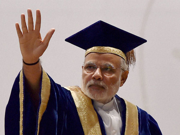 Prime Minister Narendra Modi addresses during the 42nd Convocation