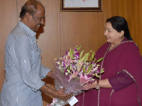 Rajinikanth and Jayalalithaa