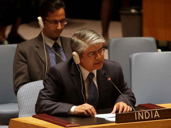 India's Ambassador to the UN Asoke Mukerji.