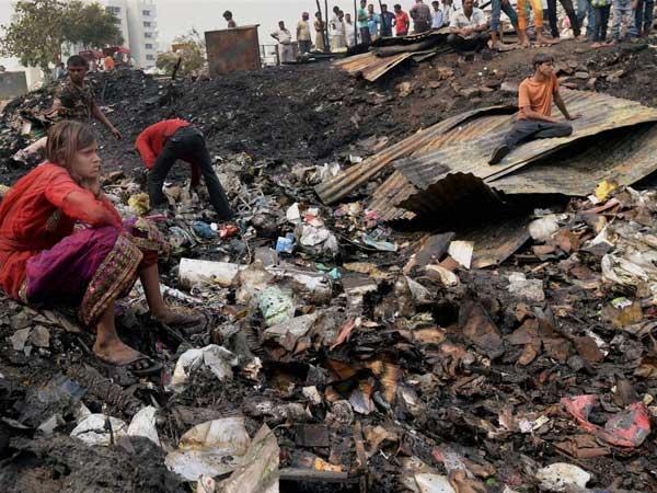 Fire in Delhi's Shastri Par slum cluster