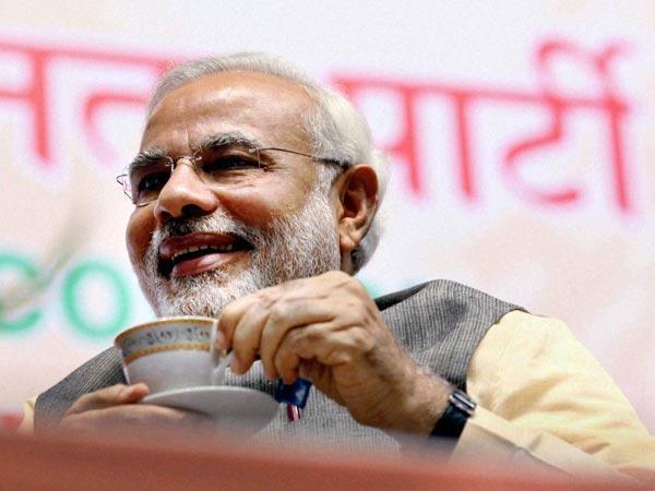 Modi at tea party