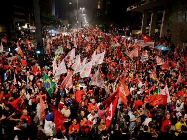 Rousseff's supporters celebrate