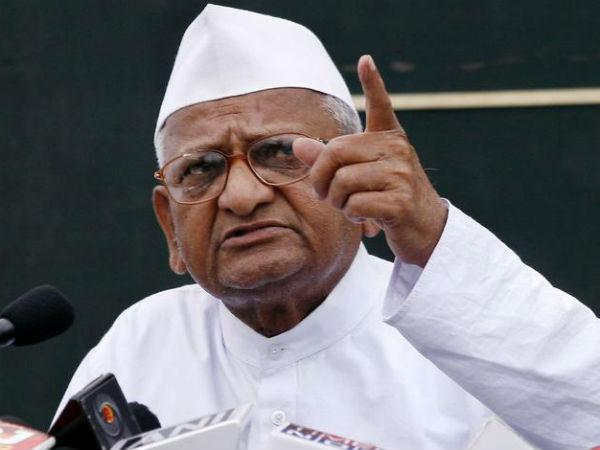 Anna Hazare unhappy with Modi government