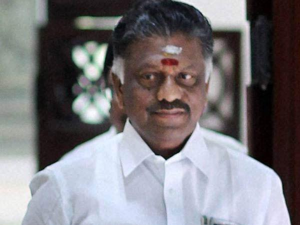 Tamil Nadu CM Panneerselvam
