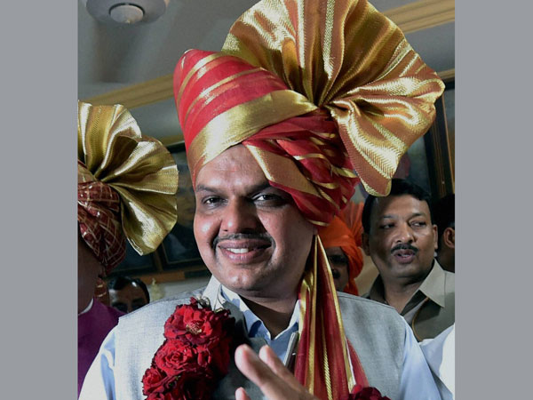 Devendra Fadnavis after being announced as the new Maharashtra C.M.