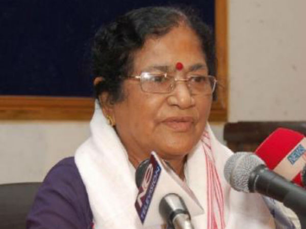 senior BJP leader and Lok Sabha MP Bijoya Chakravarty .