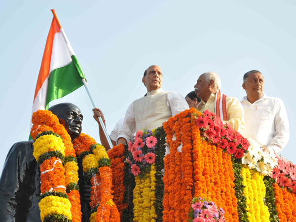 Union Home minister Rajnath Singh flag off