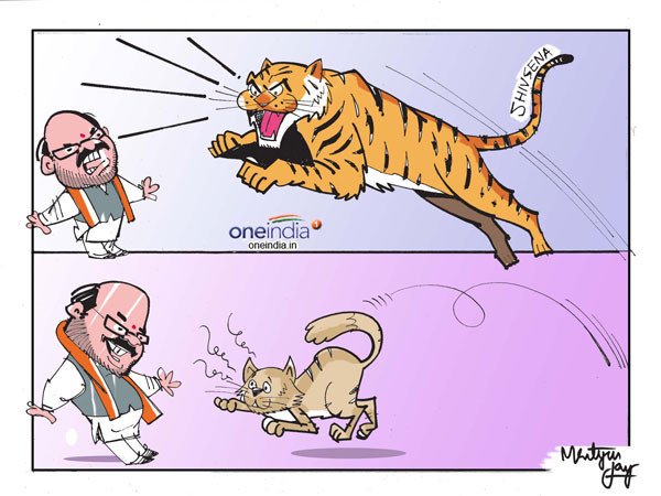 Image result for bjp sena alliance  cartoons